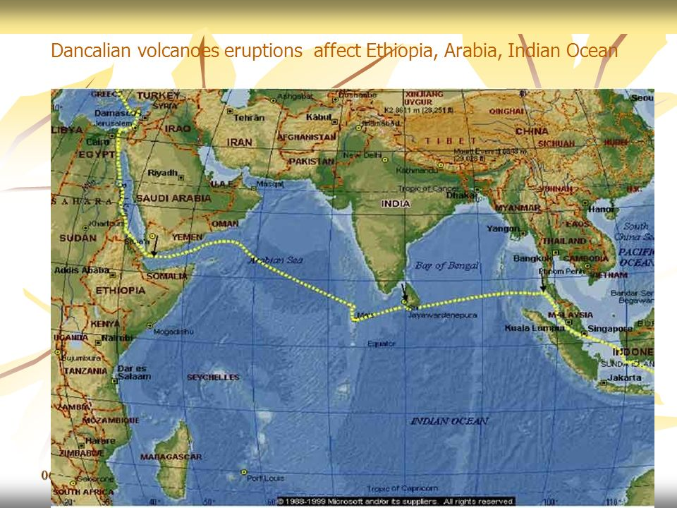 Dancalian volcanoes eruptions affect Ethiopia, Arabia, Indian Ocean