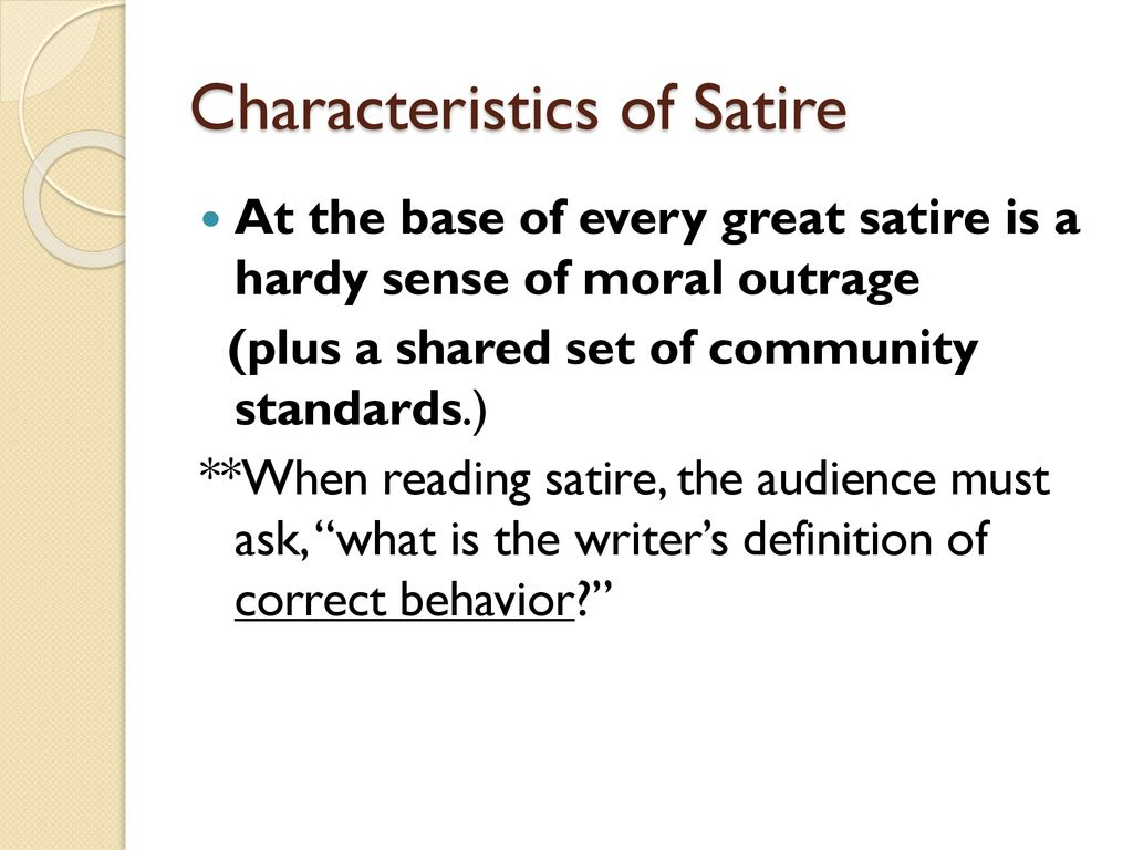 Satire An Overview Ppt Download