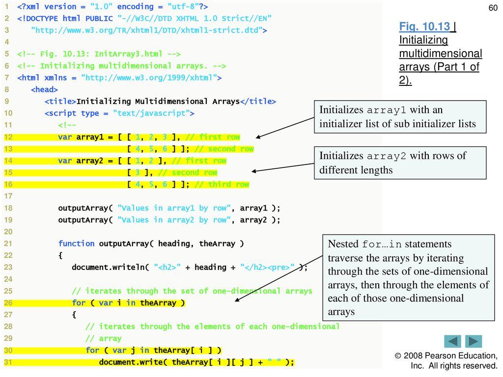 10 JavaScript: Arrays  - ppt download