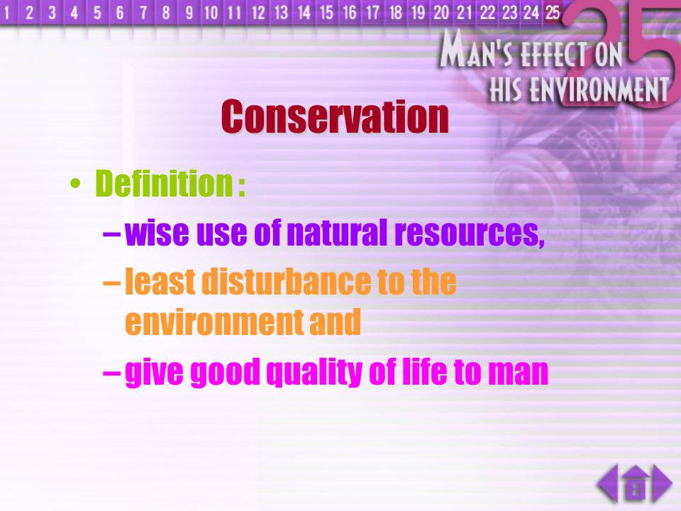 Conservation Definition : wise use of natural resources,