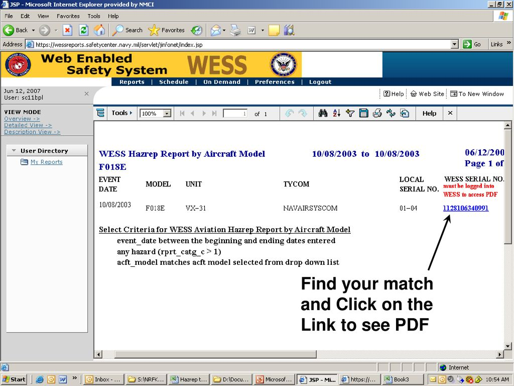 Wess Search Function This Brief Will Show You How To Use The Jreport