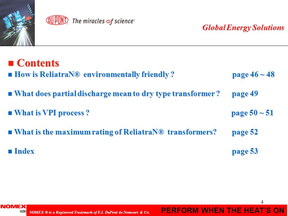 Contents Global Energy Solutions