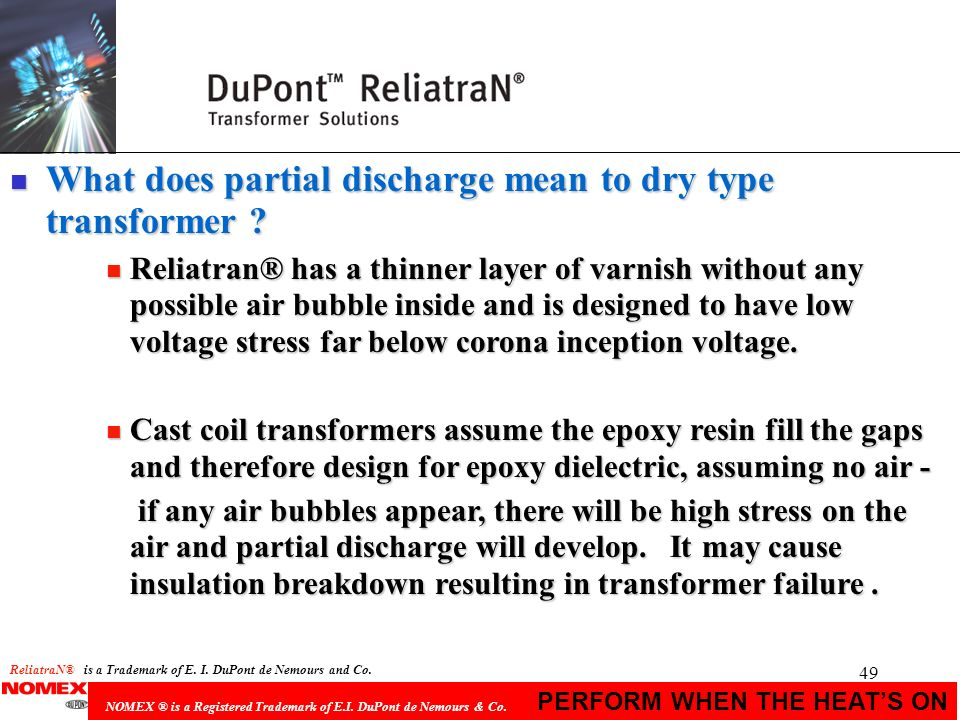 What does partial discharge mean to dry type transformer