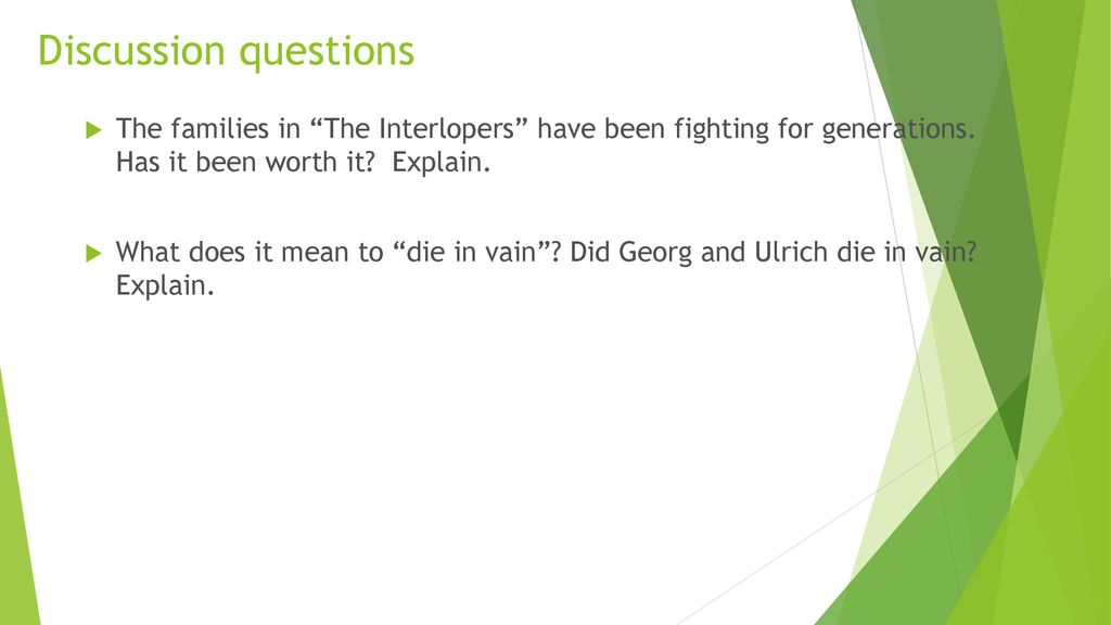 The Interlopers By Saki Ppt Download