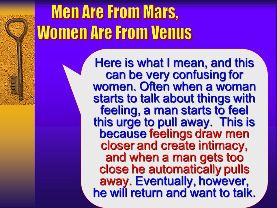 when to pull away from a man