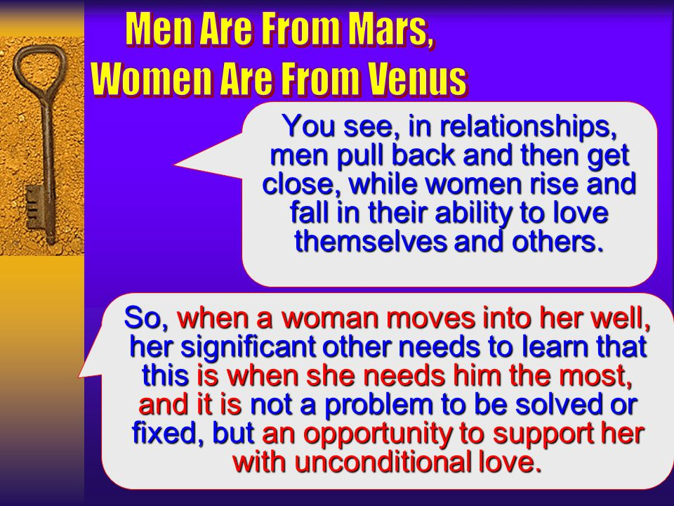 Men Are From Mars, Women Are From Venus  - ppt video online
