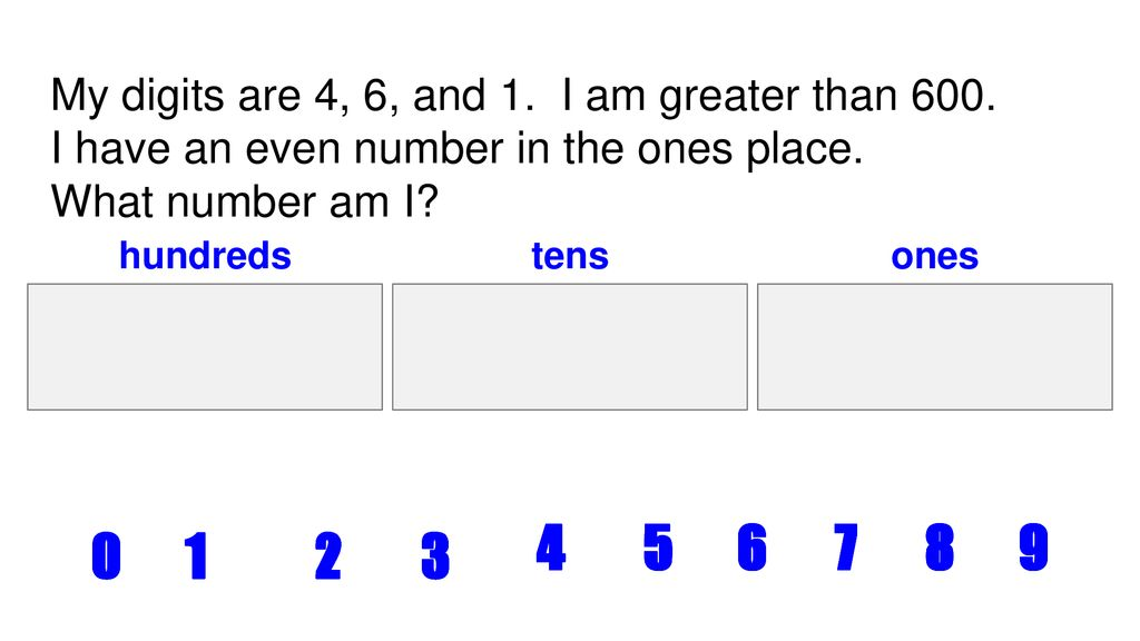 Place Value Riddles 2 NBT A 1 - ppt download
