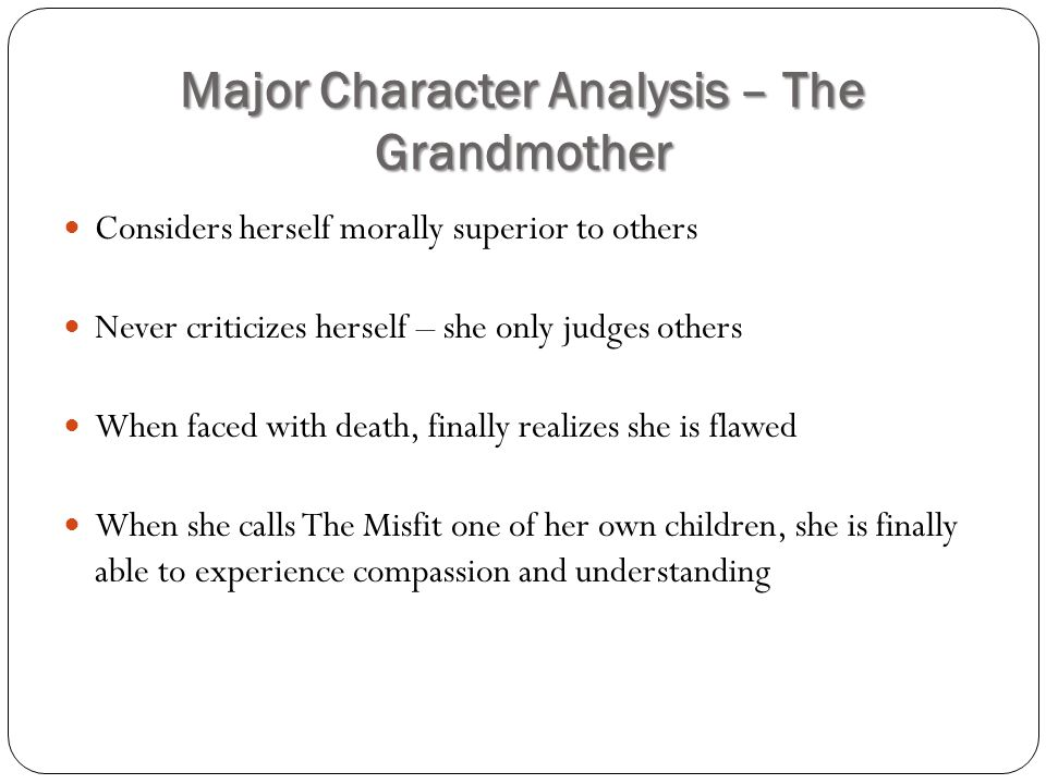 the misfit character analysis