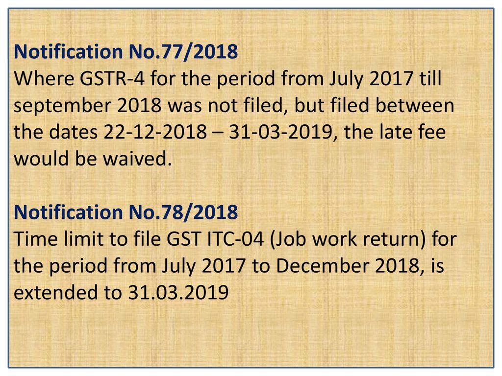 RECENT UPDATES IN GST () CA Cyrjoe V J  - ppt download