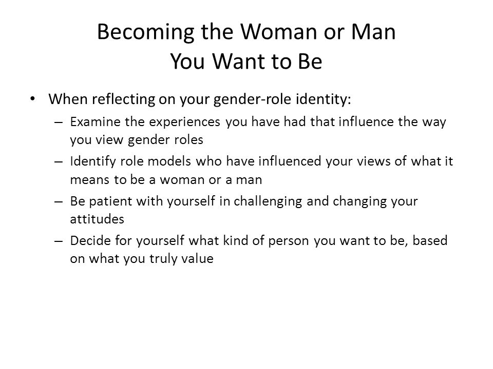 become the man women want