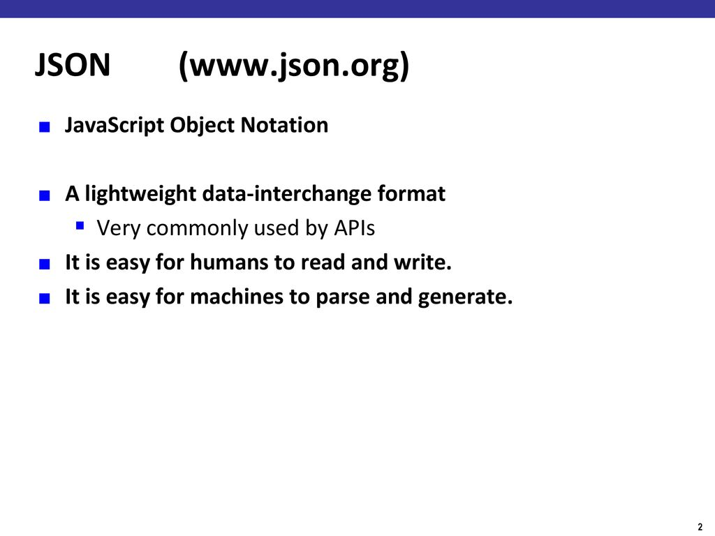 Parsing JSON, Using Libraries, Java Collections, Generics - ppt download