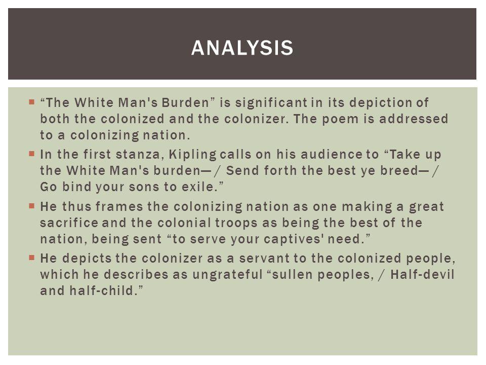 rudyard kipling white mans burden analysis