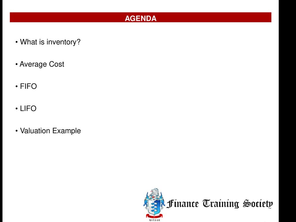 Inventory Valuation Example - ppt download