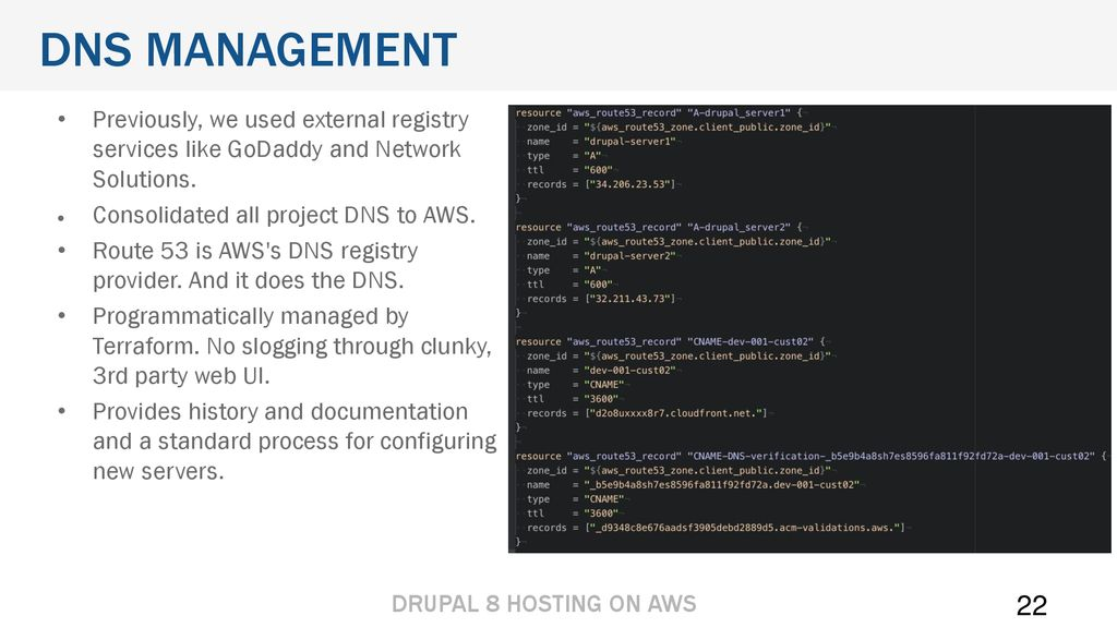 Hosting Drupal 8 on AWS Title Page  Hosting Drupal 8 on AWS Title