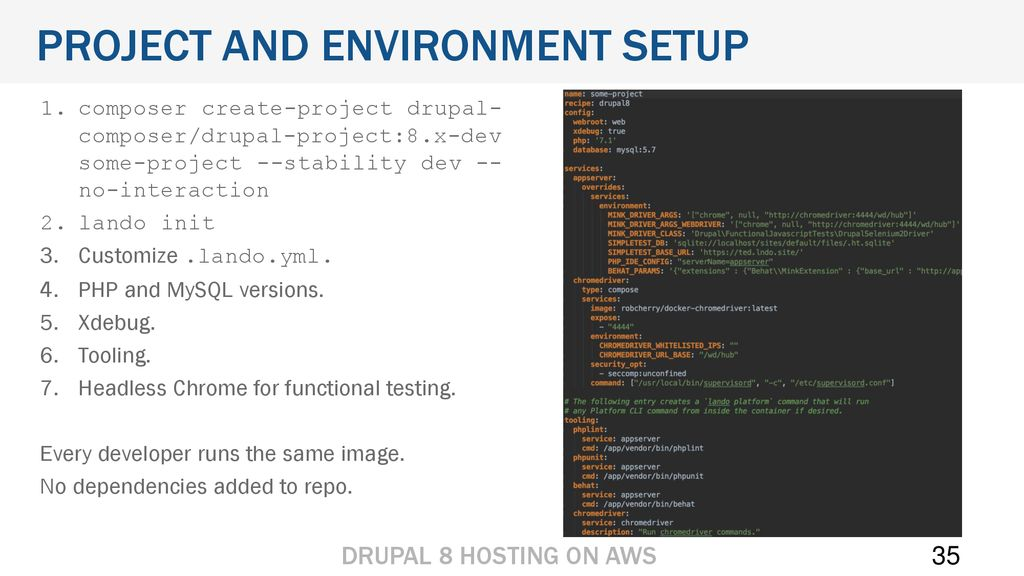 Hosting Drupal 8 on AWS Title Page  Hosting Drupal 8 on AWS