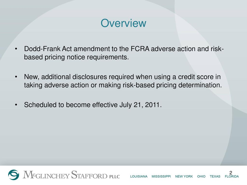 Adverse Action Notice >> Dodd Frank Changes To Adverse Action And Risk Based Pricing
