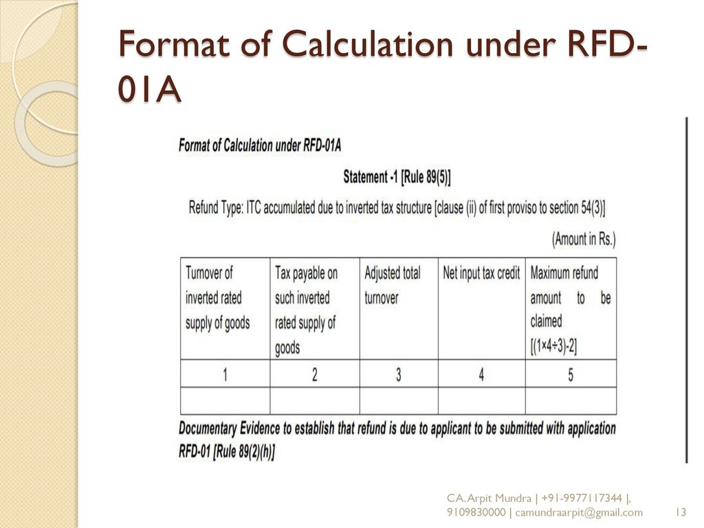 Gst Rfd 01 In Excel