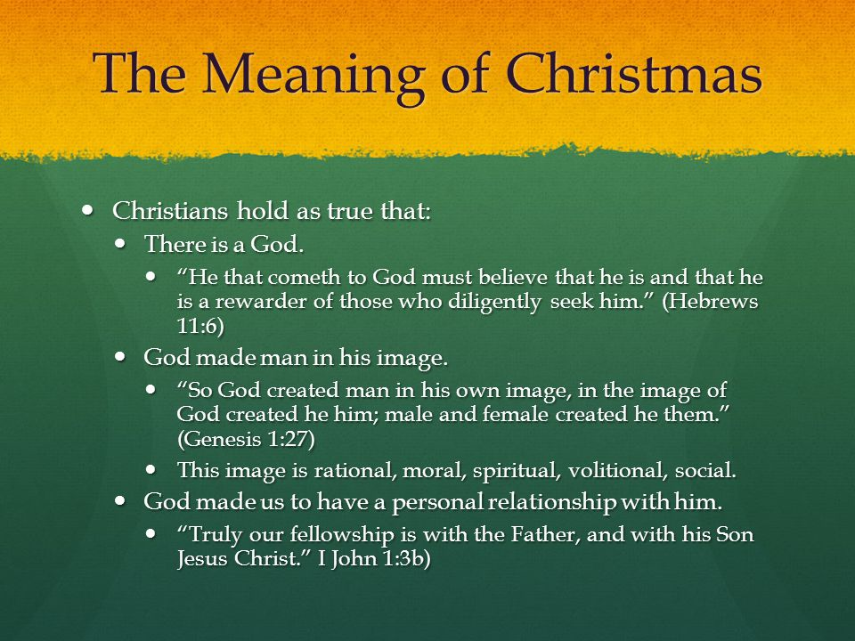 Christmas Meaning.The Meaning Of Christmas Ppt Video Online Download