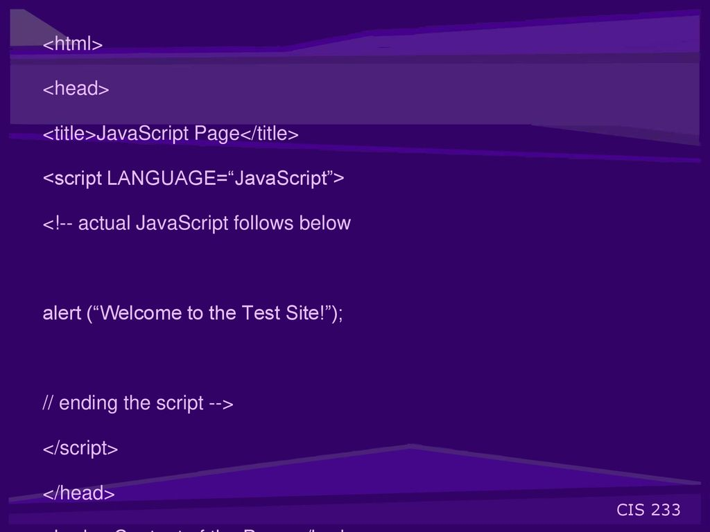 JavaScript is a scripting language designed for Web pages by