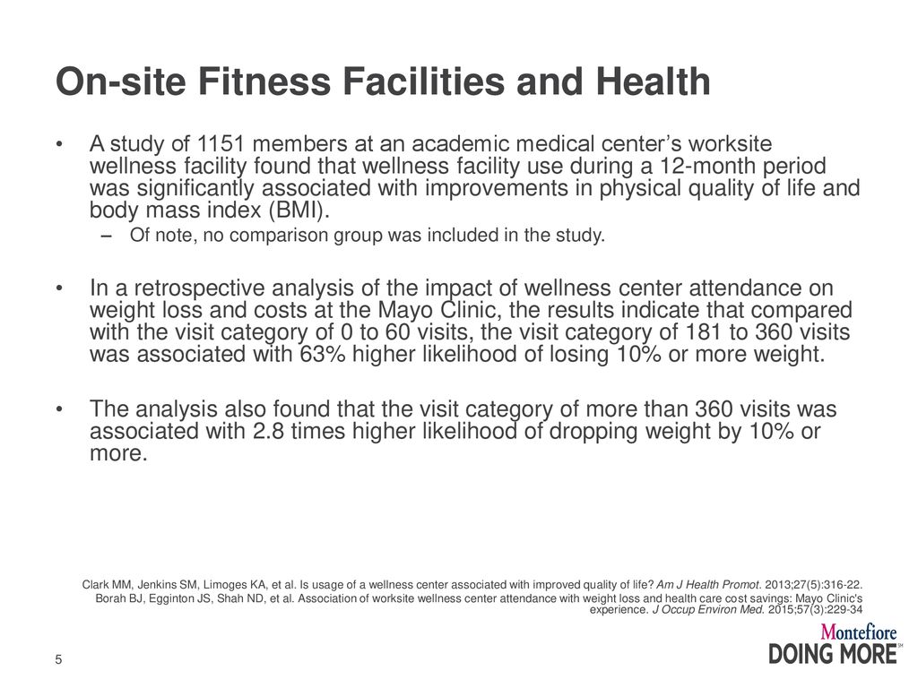 On-site Fitness Facilities - ppt download
