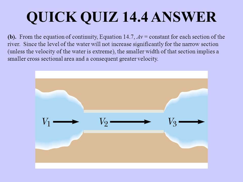 QUICK QUIZ 14.4 ANSWER