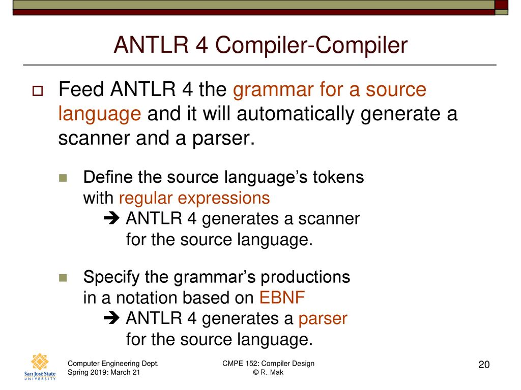 CMPE 152: Compiler Design March 21 Class Meeting - ppt download