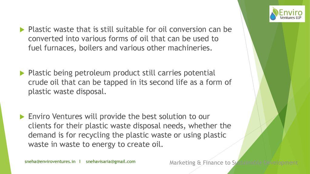 I Marketing & Finance to Sustainable Development Waste Technology