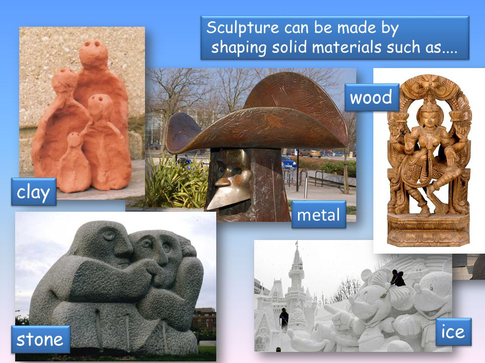 shaping solid materials such as....