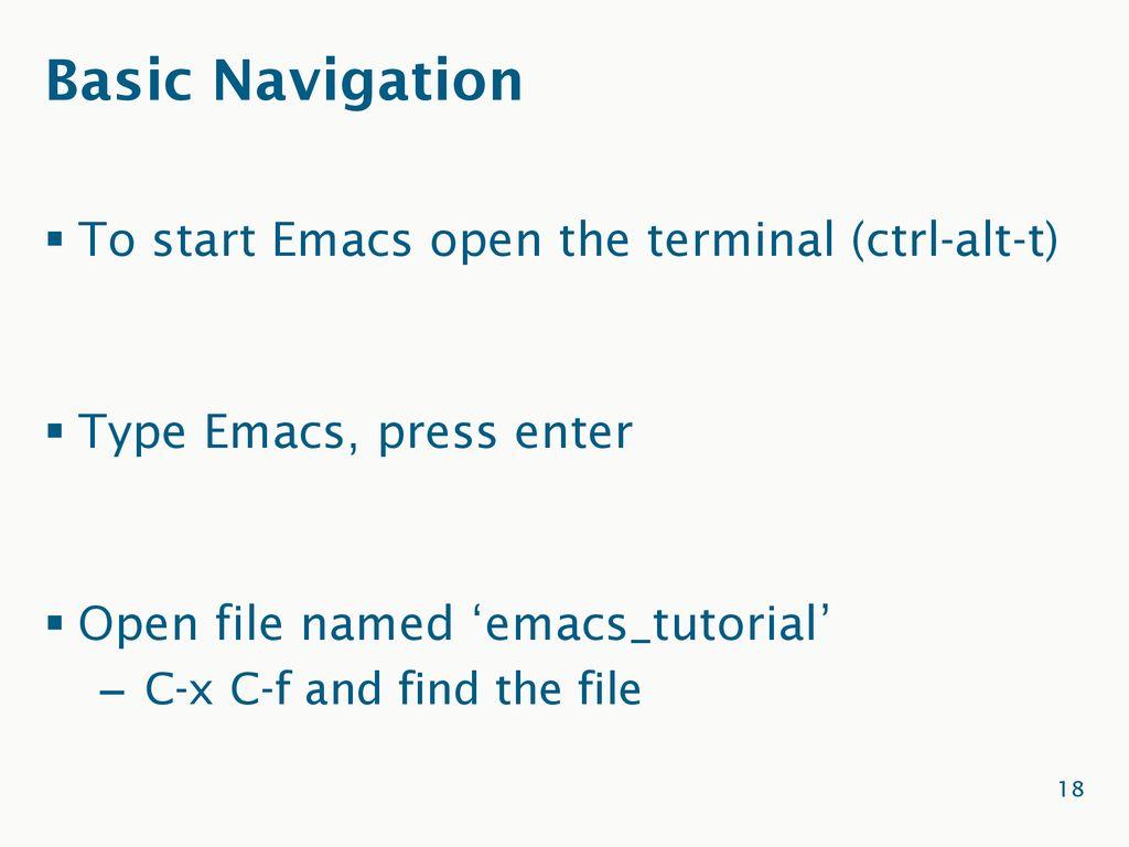 Emacs Terminal