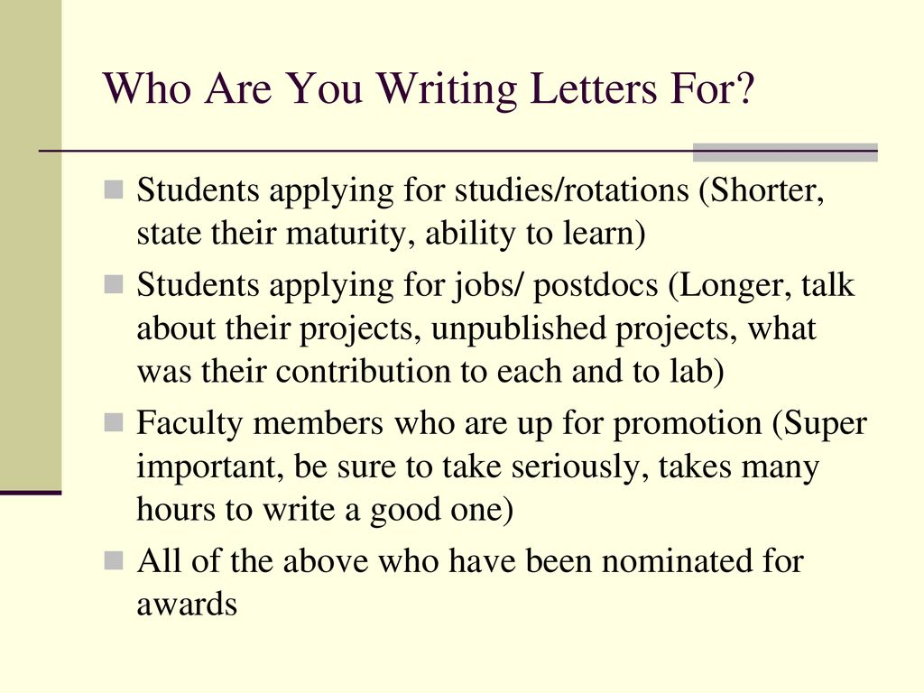 Writing Recommendation Letters - ppt download
