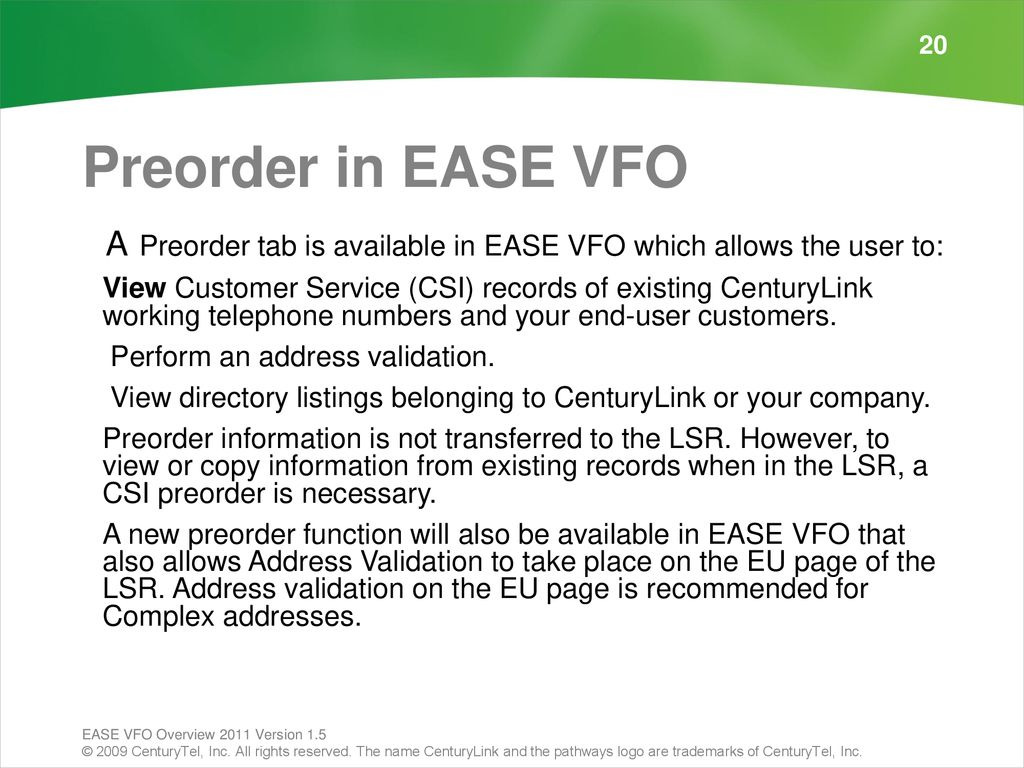 VFO Overview—External - ppt download
