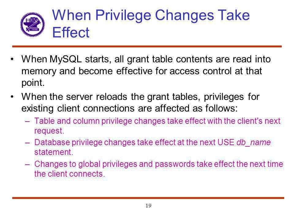MySQL Access Privilege System - ppt video online download
