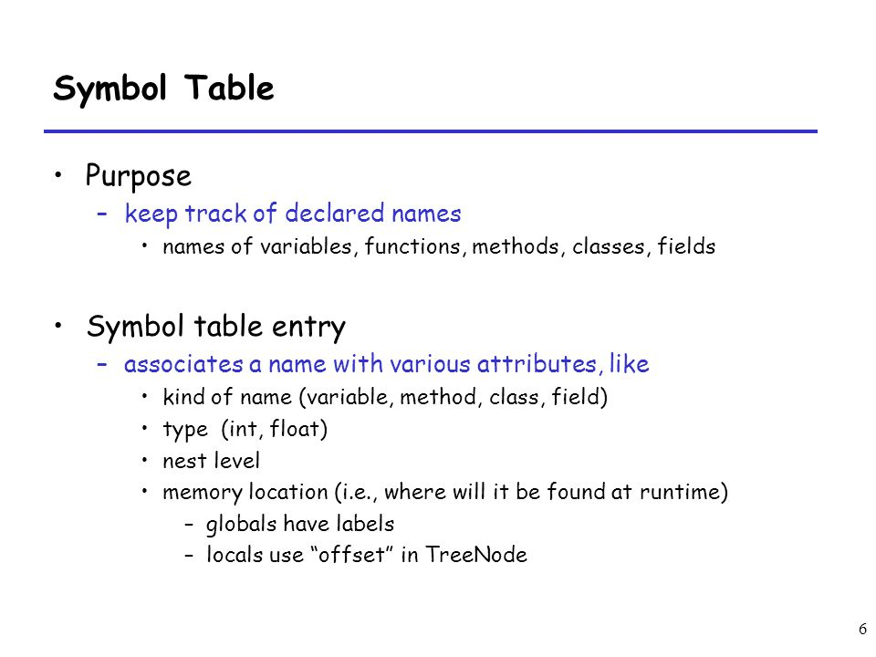 Semantic Analysis And Symbol Tables Ppt Video Online Download