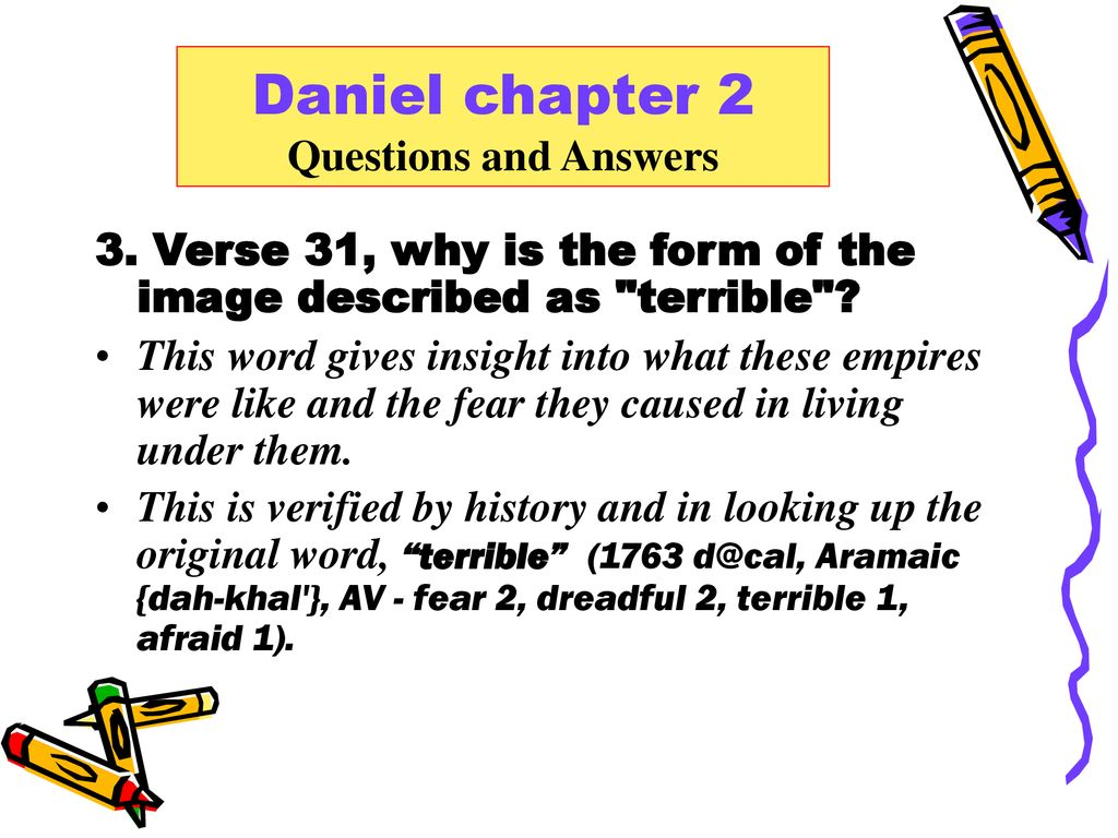 Daniel chapter 2 Questions and Answers  - ppt download