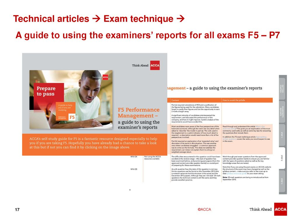 Acca F8 Technical Articles