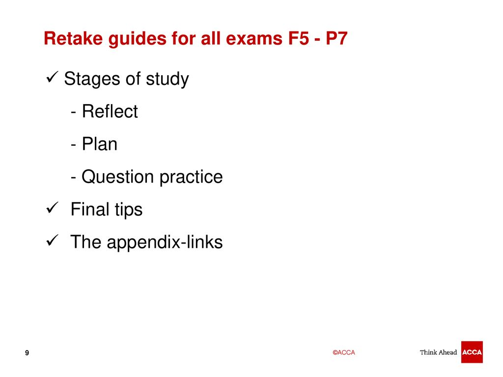 Supporting our students A guide ACCA learning support – Part