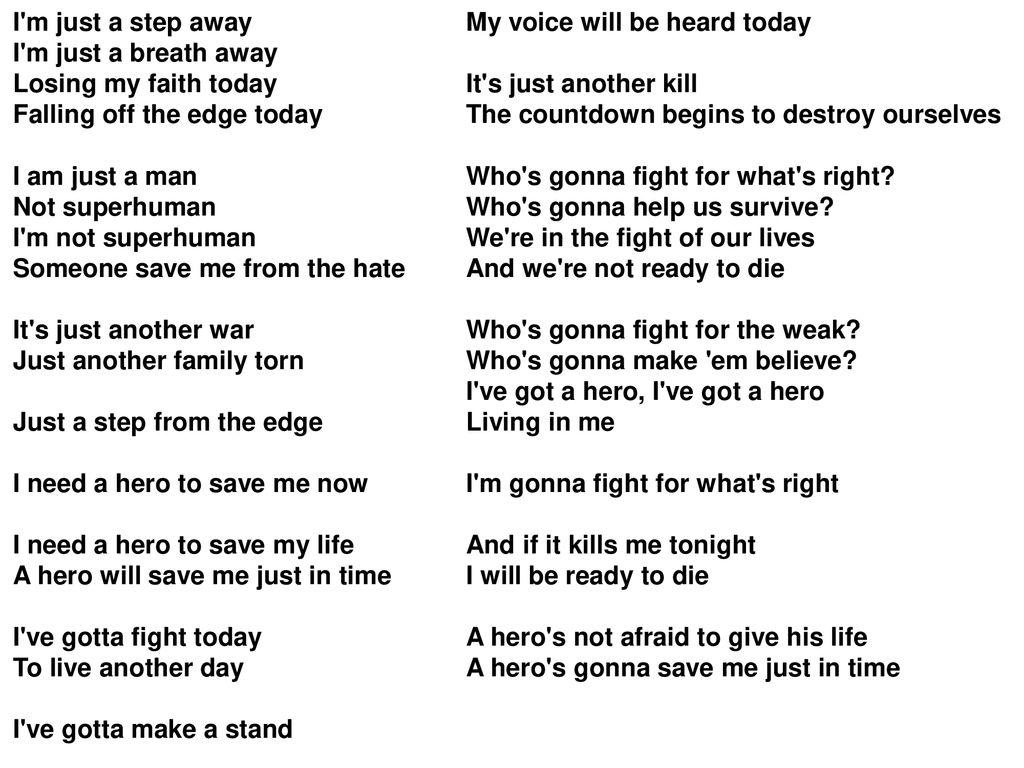 Skillet - Hero – Lyrics - ppt download