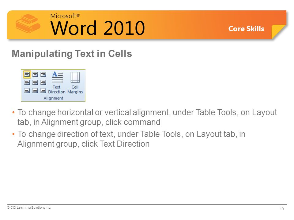 Manipulating Text in Cells