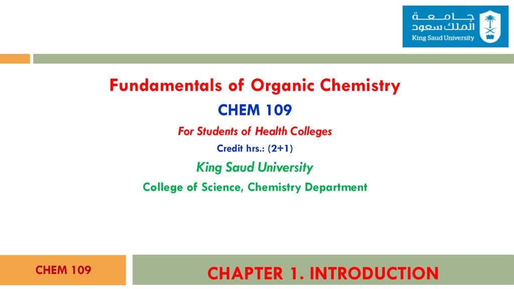 Fundamentals of Organic Chemistry CHAPTER 1  INTRODUCTION