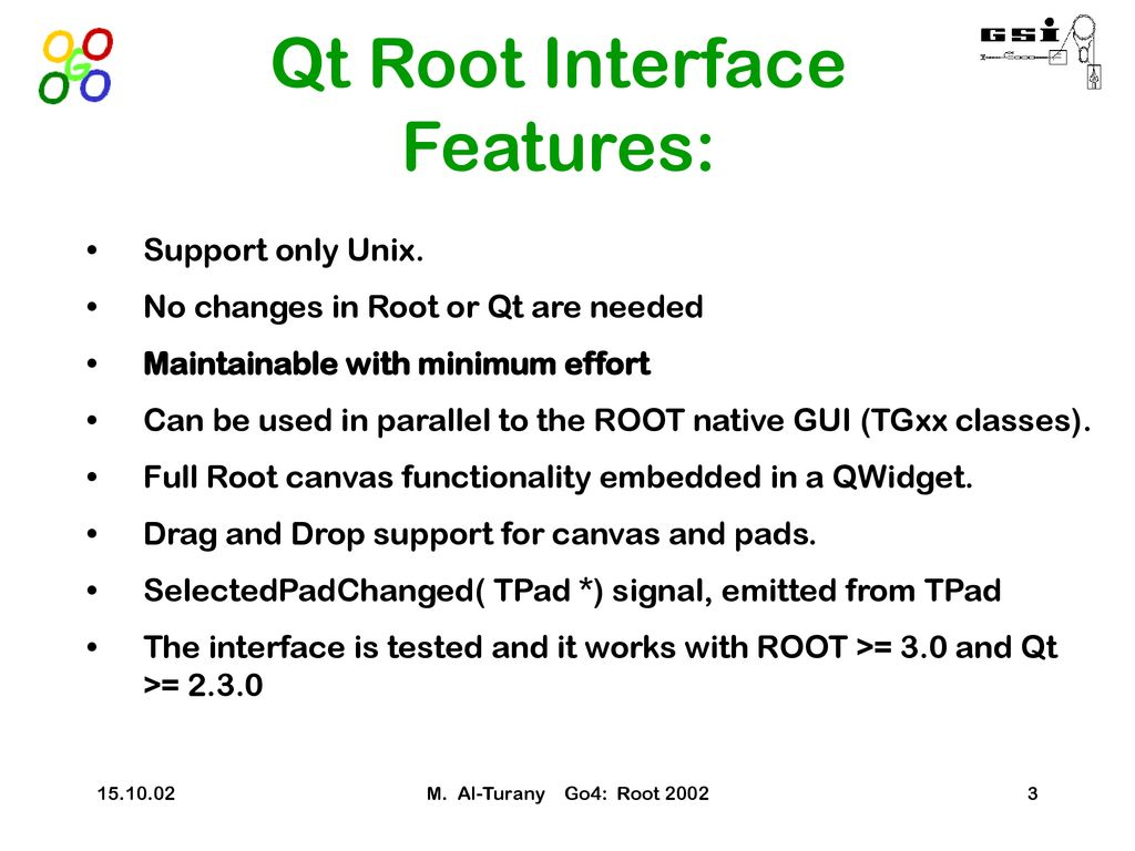 Go4 GUI and GSI's QtROOT interface - ppt download