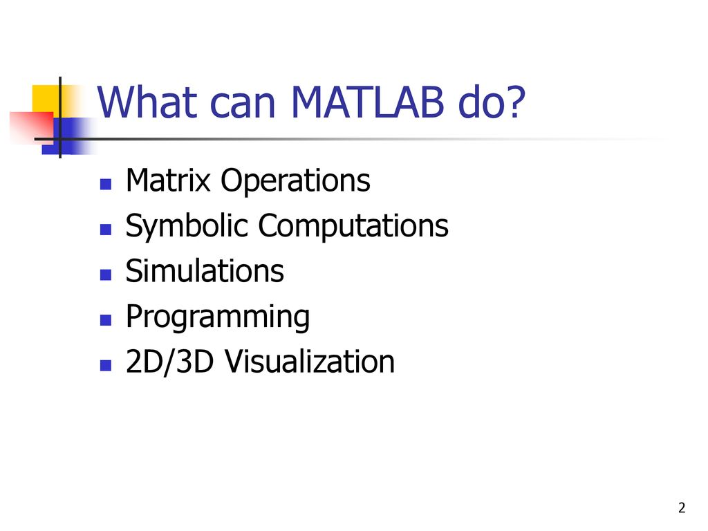 How to Use MATLAB A Brief Introduction  - ppt download