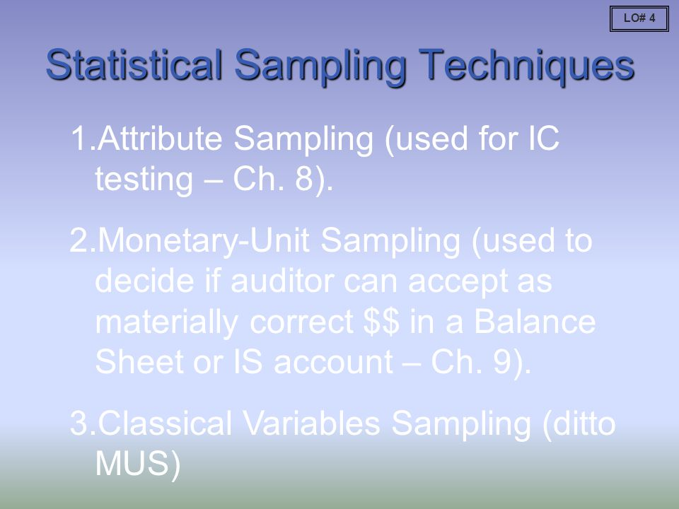 Statistical Sampling Techniques