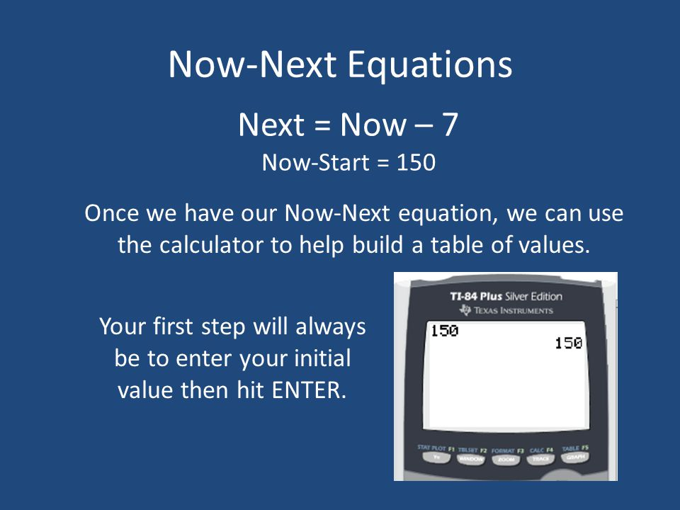 Now-Next Equations Please view this tutorial and answer the follow ...