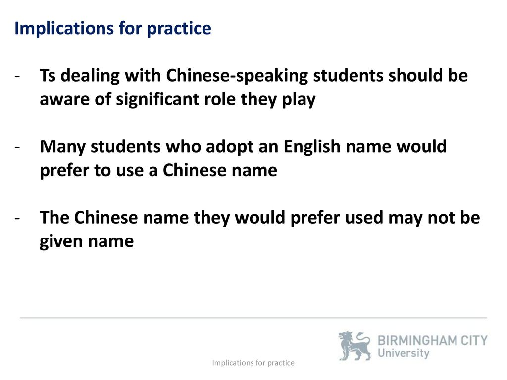 The use of English names by Chinese speakers - ppt download