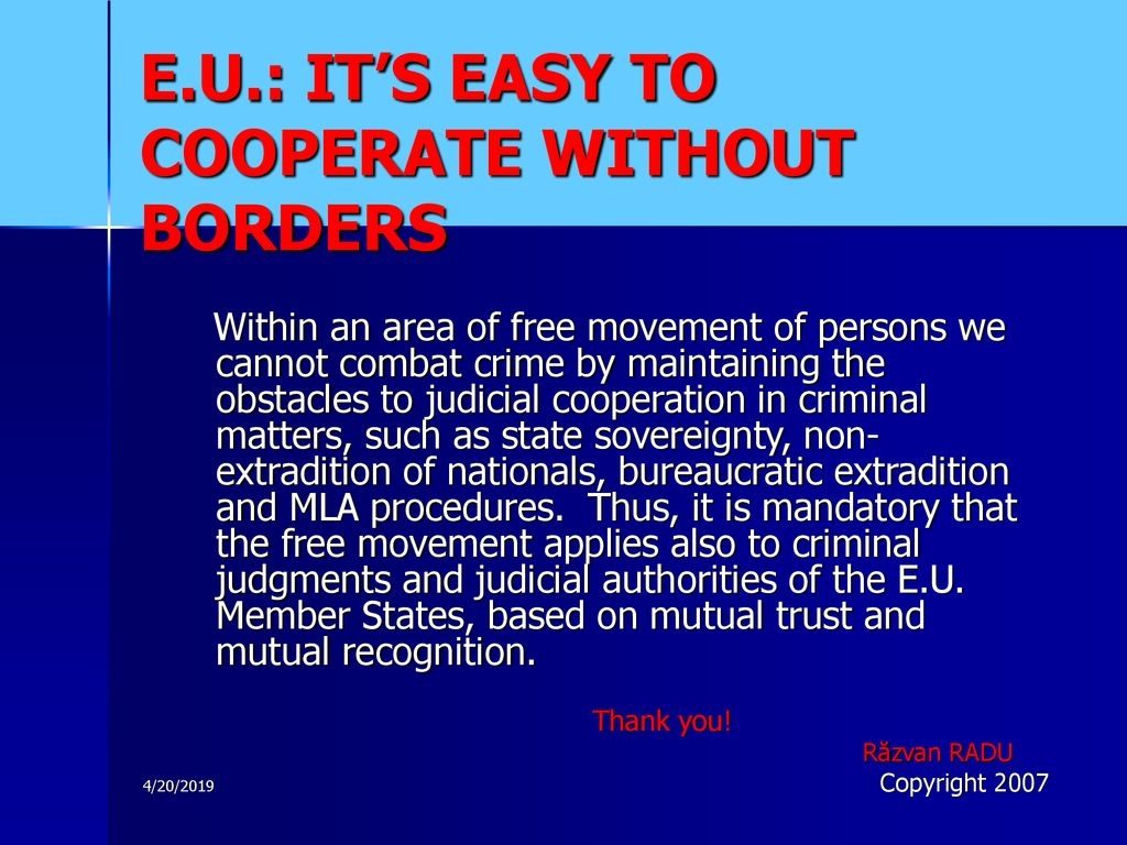 Judicial Cooperation in Criminal Matters within the European