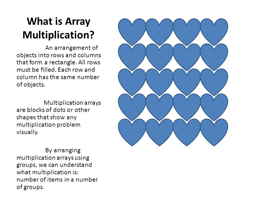 Multiplication: Using Arrays. - ppt video online download