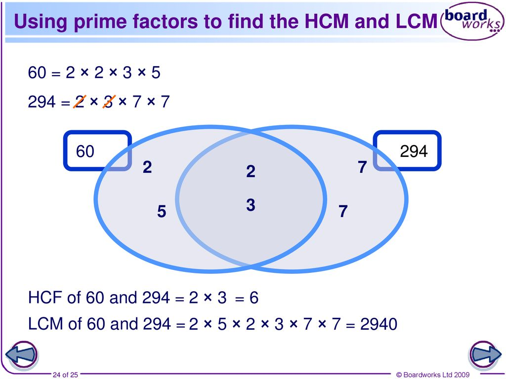 N7 Prime factor decomposition, HCF and LCM - ppt download