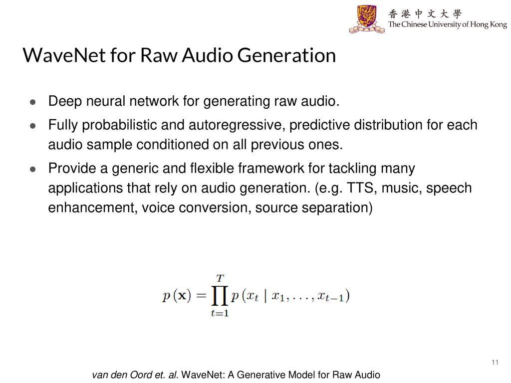 Advances in Deep Audio and Audio-Visual Processing - ppt download