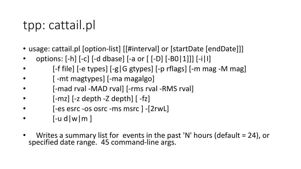 AQMS utilities (python, sql, etc scripts) - ppt download