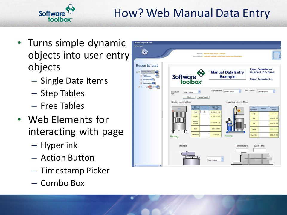 Dream Report: Advanced Manual Data Entry - ppt video online